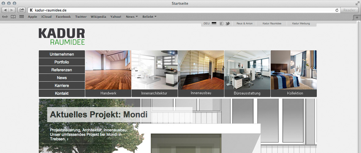 KADUR Raumidee Webdesign