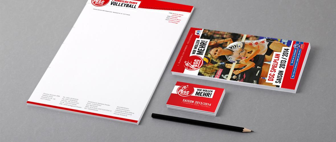 DSC Volleyball Geschäftsausstattung Briefbögen, Flyer, Spielpläne