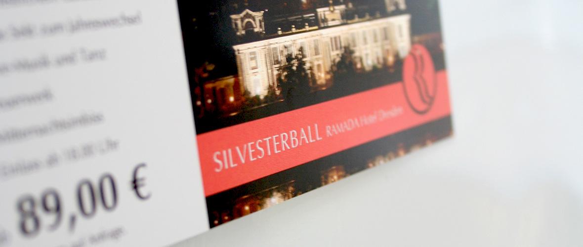 Ramada Flyer mit Silberfolie
