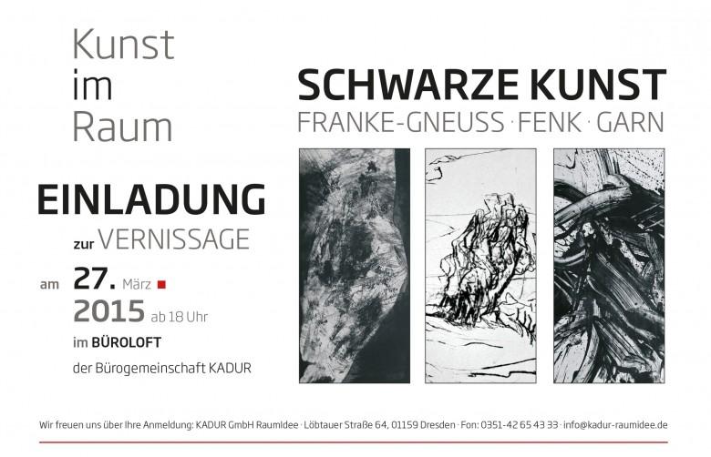 neue kunstausstellung: schwarze kunst in unserem büroloft, Einladung